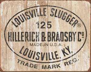 Nostalgic Images SD-1866 Louisville Slugger Metal Sign