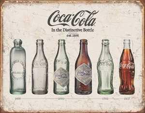 Nostalgic Images CC-1839 Coca-Cola Bottle Evolution Metal Sign