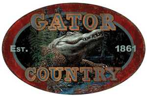 Nostalgic Images OR-1538 Gator Country Oval Metal Sign