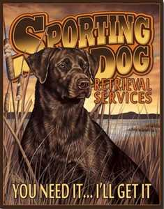 Nostalgic Images OD-1772 Sporting Dog Retrieval Services Metal Sign
