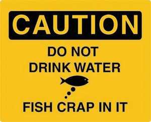 Nostalgic Images CG-653 Caution Do Not Drink The Water Metal Sign