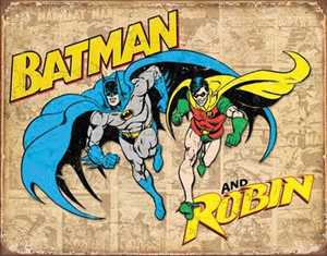 Nostalgic Images PD-1826 Batman And Robin Weathered Metal Sign