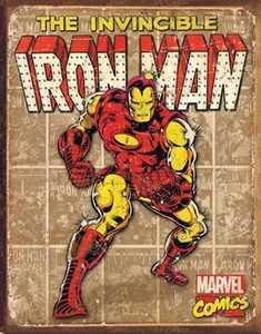 Nostalgic Images PD-1886 Iron Man Retro Metal Sign