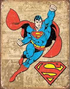 Nostalgic Images PD-1825 Superman Weathered Panel Metal Sign