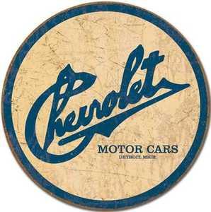 Nostalgic Images TD-1796 Chevrolet Motor Cars Historic Logo Metal Sign