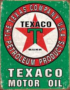 Nostalgic Images TD-1927 Texaco Motor Oil Metal Sign