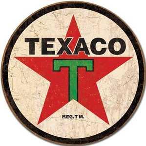 Nostalgic Images TD-1798 Texaco Round Metal Sign