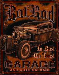 Nostalgic Images TD-1895 Rat Rod Garage Metal Sign