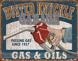 Nostalgic Images CD-1738 Busted Knuckle Garage Metal Sign