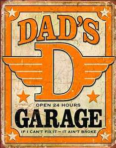 Nostalgic Images CD-1894 Dad's Garage Metal Sign