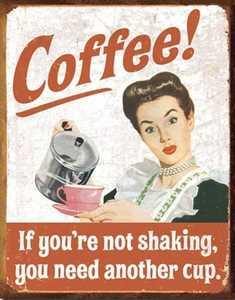 Nostalgic Images CD-1714 Coffee Shaking Metal Sign