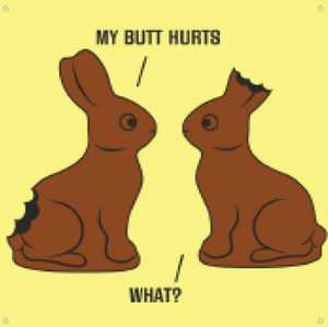 Nostalgic Images CG-778 Chocolate Easter Bunny Metal Sign