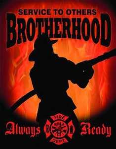 Nostalgic Images CD-1901 Fireman Brotherhood Metal Sign