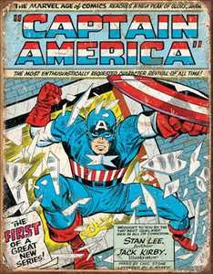 Nostalgic Images PD-1970 Captain America Cover Metal Sign