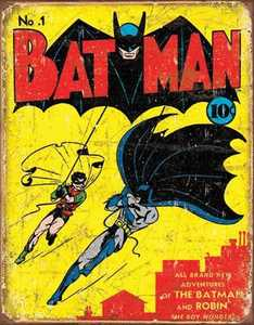 Nostalgic Images PD-1966 Batman Number 1 Cover Metal Sign