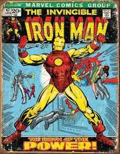 Nostalgic Images PD-1969 Iron Man Cover Metal Sign