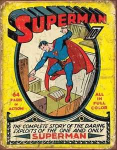 Nostalgic Images PD-1968 Superman Number 1 Cover Metal Sign