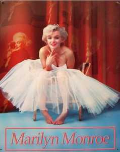 Nostalgic Images PG-754 Marilyn Monroe Ballerina Metal Sign