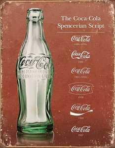 Nostalgic Images CC-1952 Coca-Cola Script Heritage Metal Sign