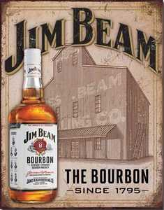 Nostalgic Images BD-1887 Jim Beam The Bourbon Metal Sign