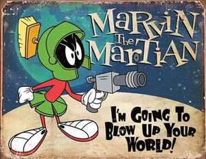 Nostalgic Images PD-2018 Marvin The Martian Metal Sign
