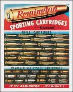 Nostalgic Images OD-1001 Remington Cartridges Metal Sign