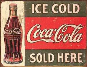 Nostalgic Images CC-1299 Coke 1916 Ice Cold Metal Sign