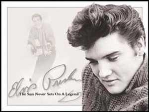 Nostalgic Images PD-934 Elvis Presley Sun Never Sets Metal Sign