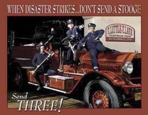 Nostalgic Images PD-1081 The Three Stooges Fire Department Metal Sign