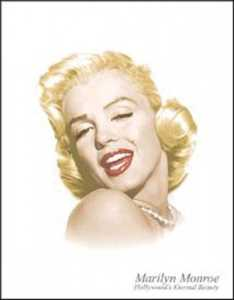 Nostalgic Images PD-1214 Marilyn Monroe Hollywood's Eternal Beauty Metal Sign
