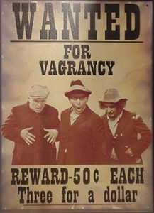 Nostalgic Images PG-436 Sign Stooges Vagrancy