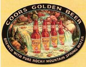 Nostalgic Images BD-1311 Coors Goldn Beer Waterfall Metal Sign