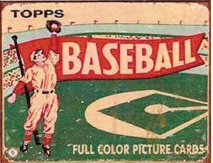 Nostalgic Images SD-1327 Topps Baseball Vintage Metal Sign