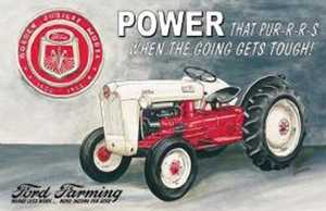 Nostalgic Images TD-699 Ford Farming Jubilee Tractor Metal Sign