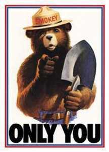 Nostalgic Images PD-834 Smokey The Bear Only You Metal Sign