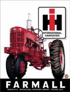 Nostalgic Images TD-839 Farmall Tractor Metal Sign