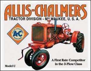 Nostalgic Images TD-1133 Allis Chalmers Model U Metal Sign
