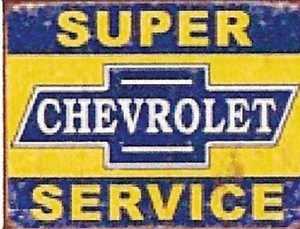 Nostalgic Images TD-1355 Super Chevrolet Service Metal Sign