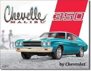 Nostalgic Images TD-1491 Chevelle Malibu 350 Metal Sign
