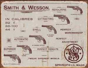 Nostalgic Images OD-1466 Smith And Wesson Revolvers Metal Sign