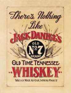 Nostalgic Images BD-832 Jack Daniels Whiskey Metal Sign