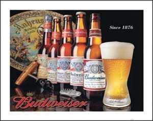 Nostalgic Images BD-1155 Budweiser History Metal Sign