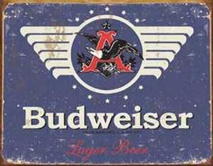 Nostalgic Images BD-1383 Budweiser 1936 Logo Metal Sign