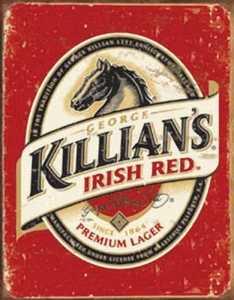 Nostalgic Images BD-1390 Killian's Irish Red Premium Lager Metal Sign