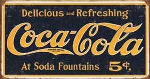 Nostalgic Images CC-1235 Coca-Cola 1910 Logo Metal Sign