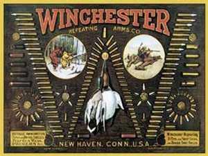Nostalgic Images OD-942 Winchester Bullet Board Metal Sign