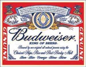 Nostalgic Images BD-979 Budweiser Label Metal Sign