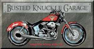 Nostalgic Images TD-1165 Busted Knuckle Garage Bike Metal Sign