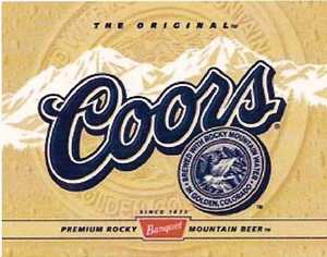 Nostalgic Images BD-1309 Coors Label Metal Sign