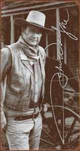 Nostalgic Images PD-1300 John Wayne Signature Metal Sign